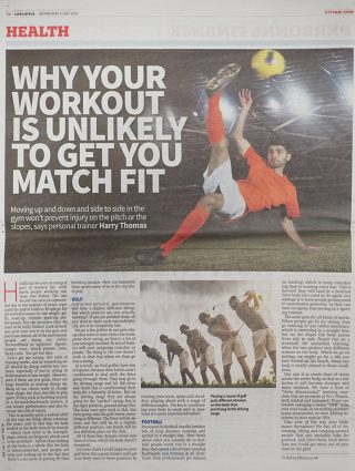 Why Your Workout Is Unlikely To Get You Match Fit | No1 Fitness
