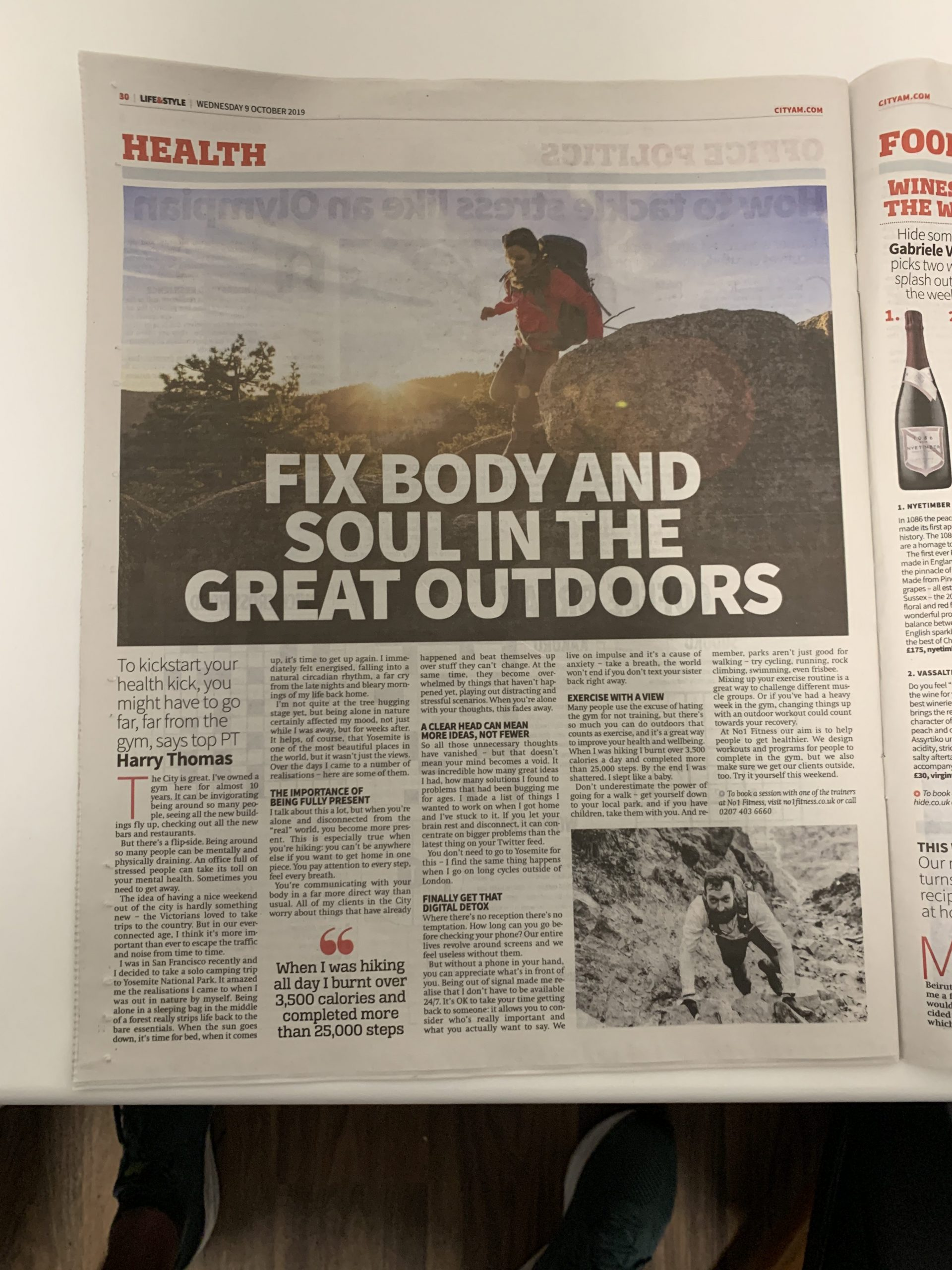 Fitness advice: Fix body and soul in the great outdoors
